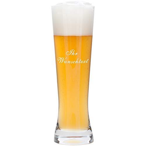 Bierglas mit Gravur zum Vatertag - 0,5 Liter Leonardo - graviertes Weizenglas - personalisiertes Geschenk für Männer, Väter, Papa, Freund, Sohn zum Vatertag als Vatertagsgeschenk