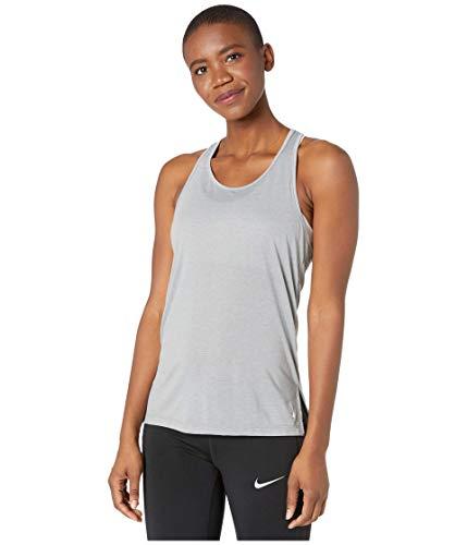 Nike - Canotta da donna in poliestere/misto rayon - grigio - XS