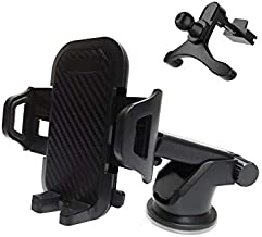 Car Phone Holder,Universal Phone Car Mount for Air Vent & Dashboard & Windshield,Cradle & Charger for iPhone Xs Max R X 8 Plus 7 Plus 6S Samsung Galaxy S9 S8 Edge S7 S6 LG Sony and More