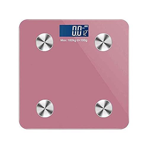 Qin Digital Peso Corporal Báscula de baño, Escala electrónica Ultrafina Digital de Alta precisión del Sensor y Vidrio Templado Pantalla retroiluminada (Color : B)