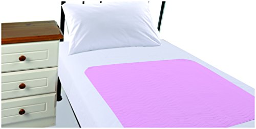 Highliving  Washable Waterproof Incontinence Bed Protection Pads Sheets with Tucks (Baby Pink)