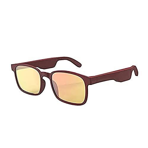 Portonss Gafas polarizadas, Gafas de Sol de Bluetooth inalámbrico de Audio Inteligente, música de Manos Libres, Hombres y Mujeres, Gafas polarizadas, IPX4 Impermeable