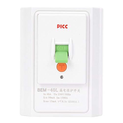 BERM BEM-40L 40A 230V Toma de corriente de pared Tomacorriente de protección contra fugas Interruptor de toma de corriente, Tomacorriente de pared Toma de corriente para protección de fugas