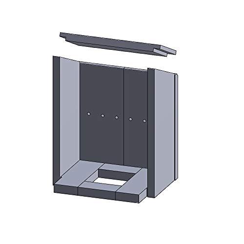Flamado Feuerraumauskleidung Komplettset 9-teilig passend für Justus Kamin Ersatzteile Kaminofen Brennraumauskleidung Vermiculite 1.150°C