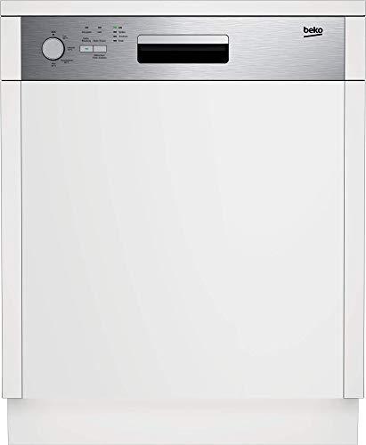 Beko DSN04420X integrierbarer Geschirrspüler/ 14 Maßgedecke/ 4 Temperaturen/Watersafe+/ Edelstahlblende, Weiß