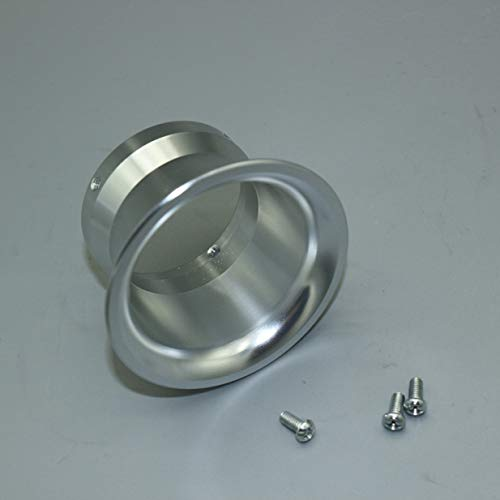 Banbie8409 Universal 50mm Motorrad Luftfilter Windschale für 28mm / 30mm / 32mm Vergaser-Silber-