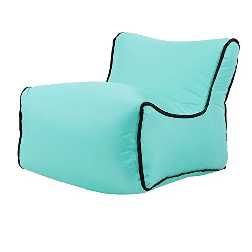HMG Mini Impermeable Inflable del bebé Asientos SofaChair Muebles Bean Bag del Amortiguador de Asiento (Asiento Negro) (Color : Lake Green Seat)