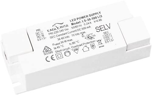 HuaTec Eaglerise LED Trafo 500mA 30W Konstantstrom LED Netzteil Driver Treiber Transformator