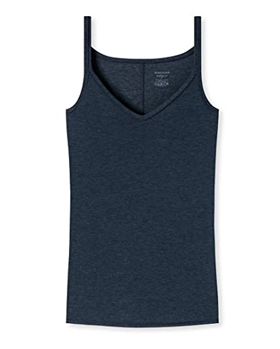 Schiesser Personal Fit - Camiseta para espaguetis (4 unidades) azul noche (night blue) M
