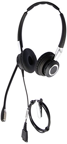 Jabra 2400 II QD Duo NC Wideband Balanced Wired Headset - Black