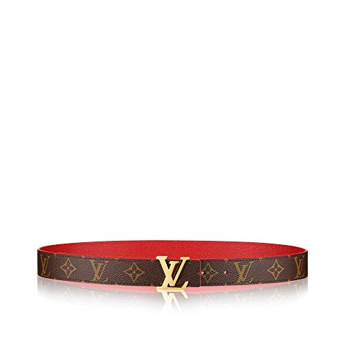 Louis Vuitton Monogram LV Initiales 30mm Reversible Belt (Red, 80 cm)