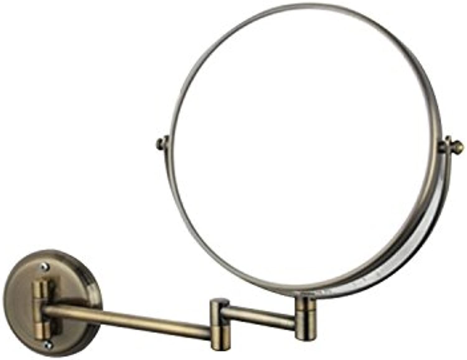 LUANT Wall Mount Makeup Mirror 3X Magnification Bathroom Swivel Two-Sided 8-Inch, Brushed Nickel
