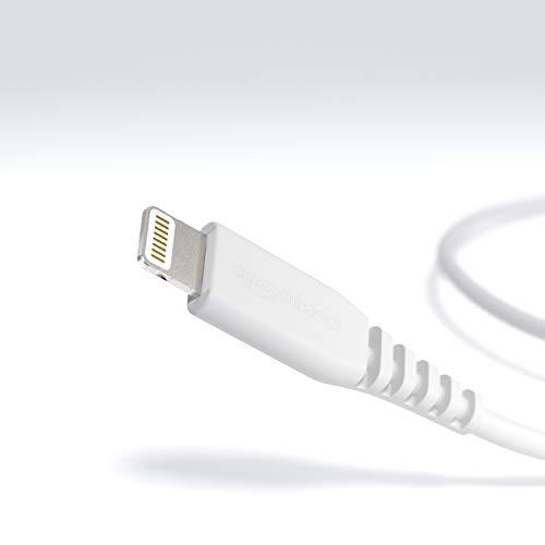 Amazonベーシック『ライトニングケーブルUSB【iPhone対応/AppleMFi認証】ホワイト0.9m』