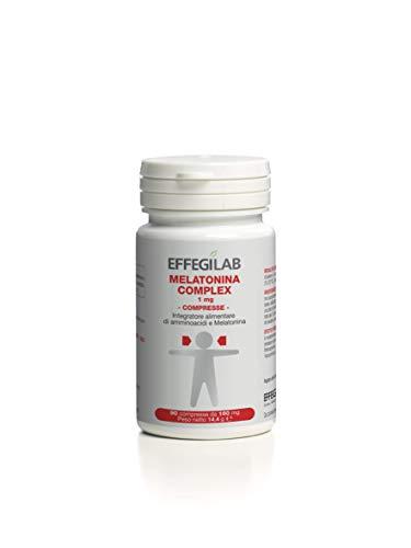 Melatonina 1 Mg Complex, con ADENOSINA e GLICINA, 90 compresse - di Effegilab