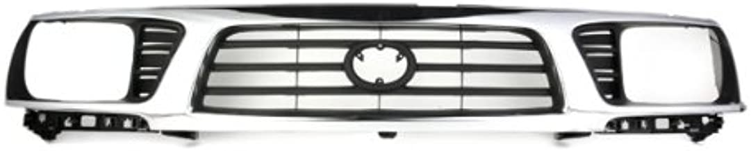 CarPartsDepot, Front Grille Grill Chrome New Replacement New Painted Black Grid, 400-44953 TO1200197 5310035340