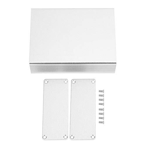 Aluminium-Projektbox - Aluminium-Projektbox Integrierte Matte Silver DIY Junction Eectronic Shell 29x74x100mm