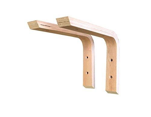 Sunload Holzkonsole aus Schichtholz 2 Stück (200 x 150 mm)