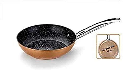 Monix Copper - Sartén 28 cm de aluminio forjado con antiadherente con partículas de titanio, aptas para todo tipo de cocinas, incluso inducción, color cobre