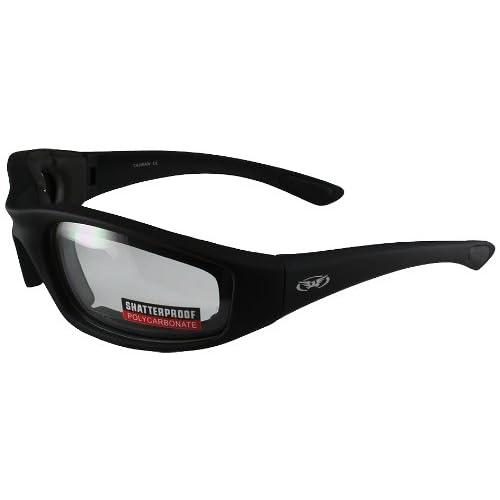 4dc93195d4 Global Vision Kickback Motorcycle Glasses (Black Frame Clear Lens)
