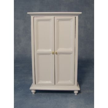 Wardrobe White for Dolls House, Scale 1:12 by Dolls House
