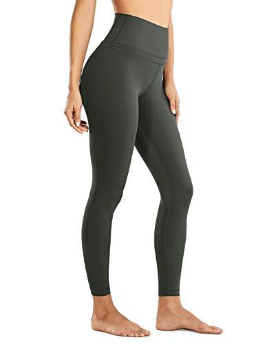 CRZ YOGA Donna Vita Alta Pantaloni Sportivi Leggings Fitness con Tasche-71cm Verde Oliva 38