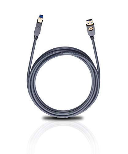 Oehlbach USB MAX - Cable USB 3.0 de Conector USB A a B (7,50
