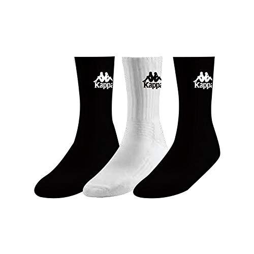 Kappa Ailel Auth Socks X3 Calcetines, Unisex Adulto, Black/