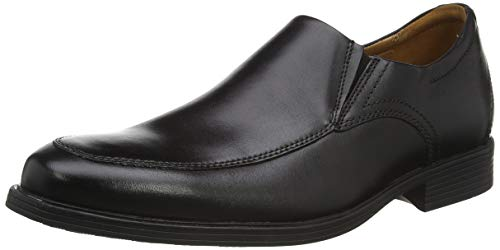 Clarks Whiddon Step, Mocassino Uomo, Black Leather, 42 EU