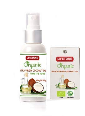 Huile de coco vierge à l'Aloe Vera infusé | Huile de soin des cheveux et de la peau Natural Spa | Shampooing aux herbes