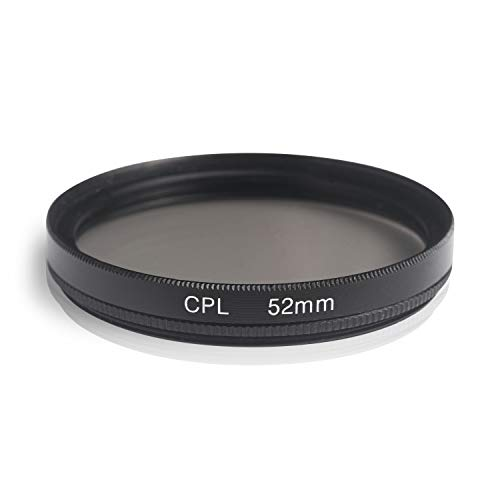 Ares Foto® CPL Zirkular-Polfilter Polarisationsfilter, optisches Glas & Aluminium. Für Canon Sony Nikon Fujifilm Pentax Tamron Sigma Leica Olympus Panasonic (52mm)