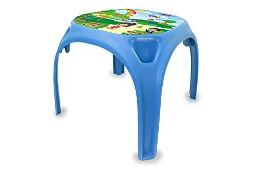Jamara 460752 Kindertisch Zahlenspass XL-aus robustem Kunststoff, Indoor-Outdoor geeignet, Aufdruck auf der Tischplatte, abgerundete Kanten, rutschfeste Gummifüße, blau