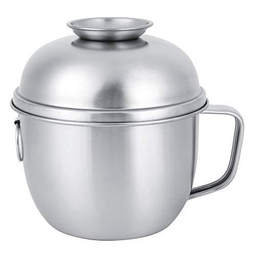 SunshineFace 304 de acero inoxidable hogar fideos sopa tazón de fuente de comida fruta contenedor con tapa mango