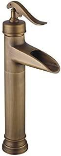 Brass Waterfall Single Handle Bathroom Vessel Sink Faucet Vintage Style Z2015088006