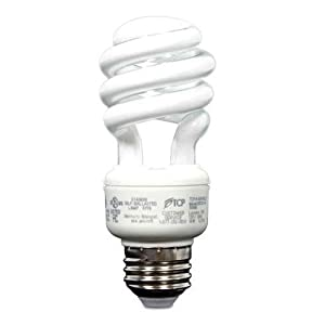 TCP 60W Equivalent CFL Mini Spring A Lamp, Daylight (5000K) Spiral Light Bulb (10 Pack)