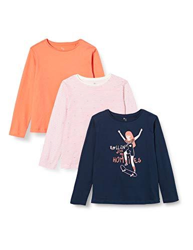 ZIPPY Pack de 3 Camisetas de Manga Larga para niña SS20, Dress Blue 19/4024 TC, 5/6 para Niñas