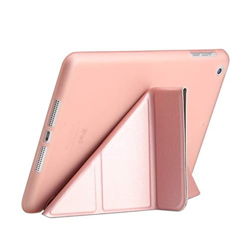 QiuKui Tab Cover For ipad 2/3/4 9.7 2018/2017 5/6th, Ultra Thin PU Leather Soft Smart Cover for iPad MINI 1/2/3/4/5 7.9' (Color : Rose gold, Size : Mini 5 2019 7.9inch)