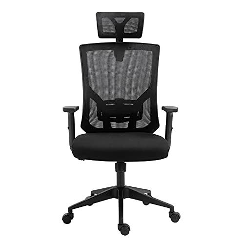 AMINITURE Ergonomische Bürostühle Atmungsaktiver Bürostuhl aus Mesh Drehstuhl hat Verstellbarer...