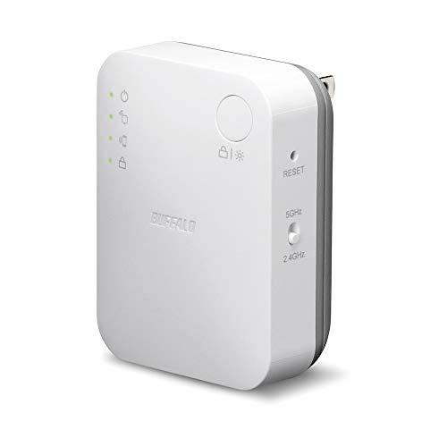 BUFFALO WiFi 無線LAN 中継機 WEX-733DHP/N 11ac 433+300Mbps コンセント直挿しモデル 簡易パッケージ 日本メーカー【iPhone12/11/iPhone SE(第二世代) メーカー動作確認済み】