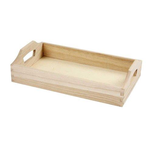 Creativ 575300 30 x 17 x 5 cm 1-delig houten grote dienblad met handgrepen