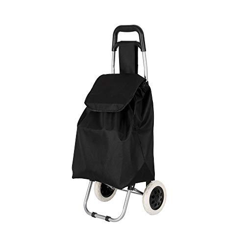 Rapid Teck® Einkaufstrolley Schwarz Einkaufsroller klappbare Einkaufswagen Faltbarer Einkaufsroller Shopping Trolley Roller Einkaufshilfe Einkaufs Trolley