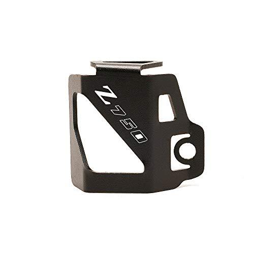 GZWO Guardia de la Cubierta del embalse de fluidos/Ajuste para -Kawasaki Z750 Z 750 2007-2012 / Motorcycle CNC Freno Trasero Reservo De Líquido Protector De Protección con Logo (Color : Black)