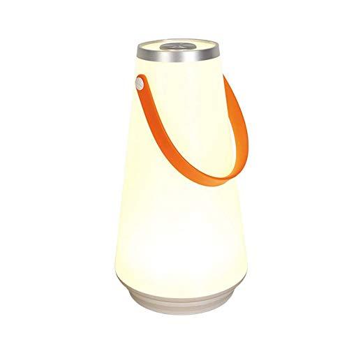 Decoración del hogar USB acampar al aire libre luz de emergencia portátiles linternas LED Inicio noche lámpara de tabla ligera recargable sin hilos del interruptor táctil Decoración de pared