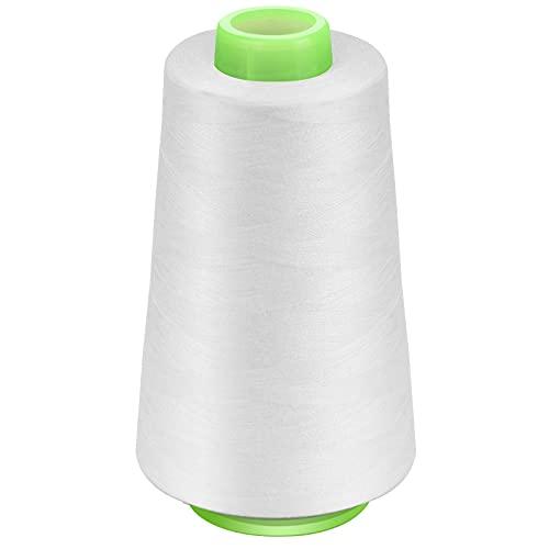 Filato in poliestere, 2700 m, per macchina da cucire, filo bianco