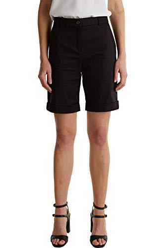 ESPRIT Collection Damen 040EO1C306 Shorts, 001/BLACK, 36