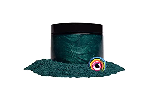 "Mica Powder Pigment ""Dark Ocean Green"" (50g) Multipurpose DIY Arts and Crafts Additive | Woodworking, Natural Bath Bombs, Resin, Paint, Epoxy, Soap, Nail Polish, Lip Balm (Dark Ocean Green, 50G)"