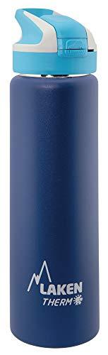 Laken Unisex – Borraccia termica da adulto, 0,7 l, blu scuro, 0,75 l