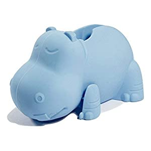 Aurelie Silicone Hippo Tub Faucet Cover for Kids, Protective Baby Safety Products for the Bathtub Spout, Blue