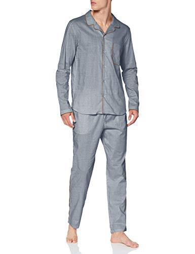 Seidensticker Herren Men Pyjama Long Pyjamaset, Silber, 054