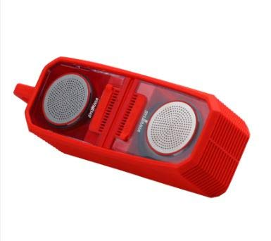 Sylvania TWS Magnetic Bluetooth Speaker Pair, Silicon Wrap, Red, (SP833)