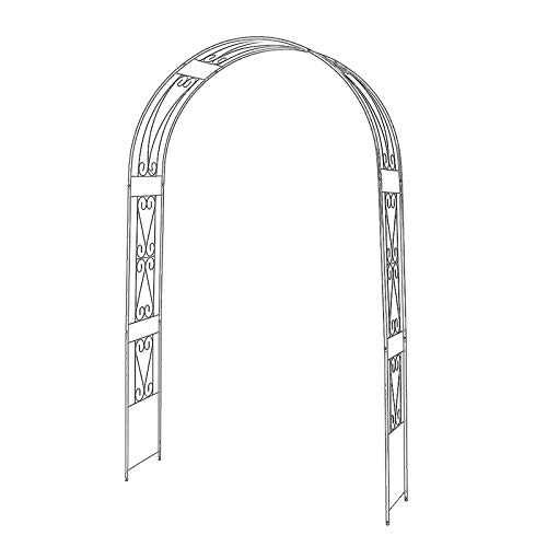 QLLL Garden Arch, Rose Arch, Heart Shaped Flower Stand, for Climbing Plants Support Pergola Arch Decoration